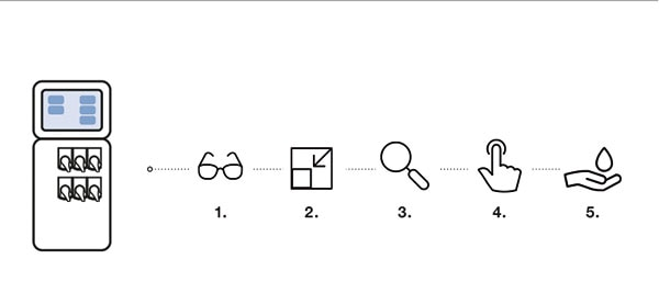 Typ 8905 mit sechs Cubes und den Mehrwerten: Alle Messdaten auf einen Blick, Platzsparend und wartungsarm, Exakte und dokumentierte Messwerte, Einfache Messung alle wichtigen Parameter in einem System, Umweltfreundlich und ressourcenschonend