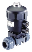 Pneumatically operated 2/2 way diaphragm valve CLASSIC with plastic body
